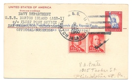 Naval Cancel 1960 USS Burton Island AGB 1 Icebreaker UY16 Reply card up... - $4.99