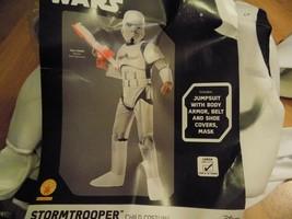 Size Large 12-14 Disney Star Wars Stormtrooper Storm Trooper Costume Mas... - $35.00