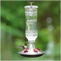 Perky-Pet 8107-2 Antique Bottle 10-Ounce Glass Hummingbird Feeder, Clear - $17.28
