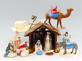 Hagen-Renaker Specialty Miniature Nativity Crib 13 Piece Complete Set