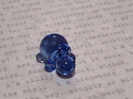 Miniature small hand blown glass blue hippo  made USA NIB image 5