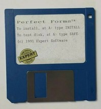 Perfect Forms Diskette Floppy Disk 1991 Expert Software - $4.19