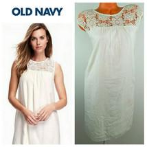 New OLD NAVY XXL 2X 18 20 Sundress DRESS Ivory White LACE Yolk Romantic - €34,98 EUR