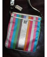 Coach Julia Striped Legacy Swing Pack Cross Body Bag 46801 - $40.80