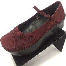 EARTH Shoes Erika Wine Color Suede Leather Mary... - $35.91