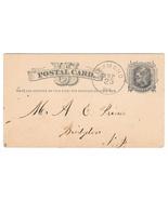 UX5 Postal Card Richmond ME 1877 Fancy Cancel R S Webbe A E Prince Farm ... - £7.20 GBP
