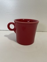 Fiesta Ware Scarlet Red Coffee Mug Ring Handle - $7.99