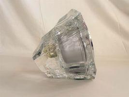 MIKASA HOYA CRYSTAL japan BALLY'S PARK PLACE step quartz CLOCK mantel image 5