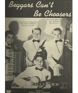 1946 Beggars Can't Be Choosers The Four Barrons Vintage & Antique sheet ... - $9.95