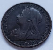 "1-1/4"" Great Britain 1899 1 Penny Victoria Dei Gra Britt Regina Fid Def ... - $3.95"