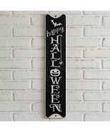 Happy Halloween wall Sign in distressed metal - $24.99