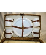 Picnic Basket With set of 4 Dishes and Built In Cooler  - $69.29