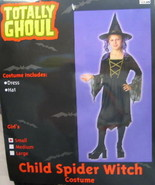 Child's Spider Witch Halloween Costume, Large 8-12, NEW UNUESED - $7.84