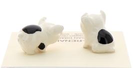 Hagen-Renaker Miniature Ceramic Pig Figurine Spotted Piglets Standing & Sitting image 2