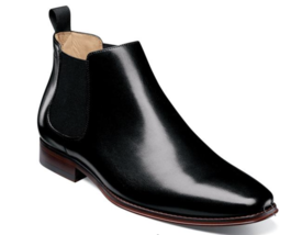 Florsheim Palermo Plain Toe Gore Boot Chelsea Black Smooth Leather 12182... - €161,83 EUR
