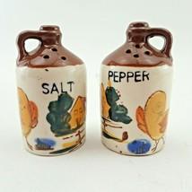 Vtg Relco Japan Salt & Pepper Shakers Whiskey Jug Moonshine Crock Farm B... - $11.85