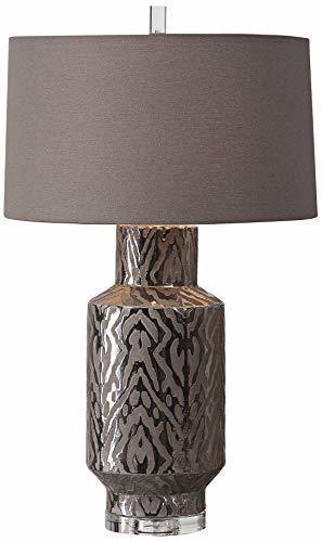 Uttermost Zelda Metallic Bronze Glaze Ceramic Table Lamp image 2