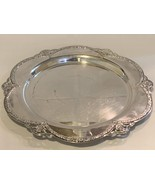 Silver Plated Tableware Platter with ornate rim 15 inch  - $159.99