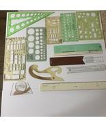 Mixed Lot VTG Architectural Drafting Templates Calculators Tools Rapid T... - $69.29