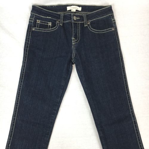 Forever 21 Denim Teens Skinny Jeans Blue Thick Stitching Zip Fly Size 26x31