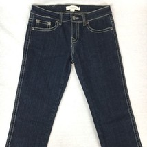 Forever 21 Denim Teens Skinny Jeans Blue Thick Stitching Zip Fly Size 26x31 - $16.04