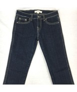 Forever 21 Denim Teens Skinny Jeans Blue Thick Stitching Zip Fly Size 26x31 - $20.77