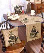 Farm Life Burlap Home Coordinates-Table Linens-Choice of Runner, Mats or... - $20.73+