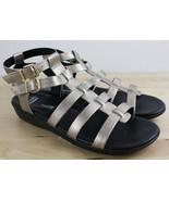 Clark's Manilla Parham Gladiator Sandals Leather Metallic Gold Women's S... - $29.99