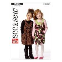 Butterick Patterns B5904 Children's/Girls' Jumper Sewing Template, Size A (All S - $9.31