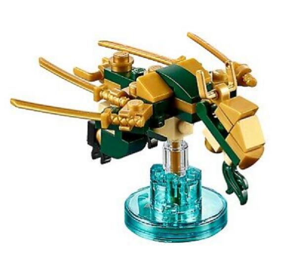 Ninjago dimensions figure with base LEGO LLOYD'S GOLDEN DRAGON 71239 - $12.00