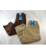 Okie Dokie Match-ups Corduroy Boys Pants 2 Piece 18-24 Months Brown & Kh... - $12.86