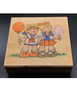 COUNTY FAIR KIDS STAMPENDOUS BOY GIRL Wood Mounted Rubber Stamp #1872 NE... - $11.81