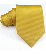 NEW men's Necktie 100% SILK solid ACID GREEN Made in Italy wedding / bus... - $27.93