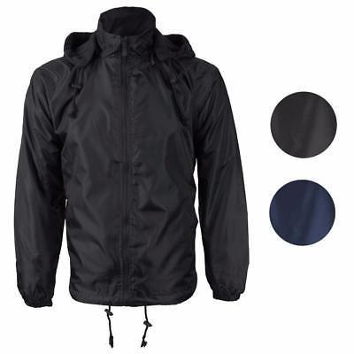 Renegade Men's Reversible Water Resistant Polar Fleece Lined Hooded Rain Jacket
