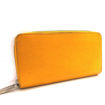AUTHENTIC LOUIS VUITTON Epi Zippy Long Wallet yellow M60437 - $455.00