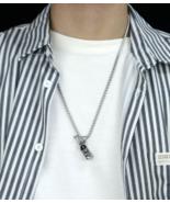 Men's Titanium Steel Individual Buddha Wine Bottle Pendant, Necklace - $32.80