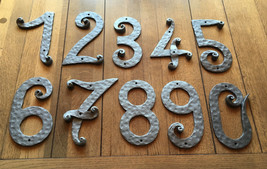 Hand Forged House Numbers and Letters Height 8.4 inch 21cm Wrought Iron - £39.58 GBP