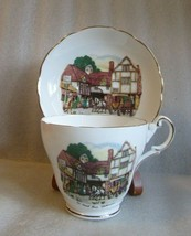Vintage REGENCY BONE CHINA ENGLAND Old Coach House Woolhampton Tea CUP S... - $29.65