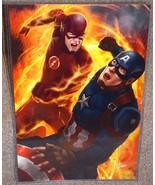 The Flash vs Captain America Glossy Art Print 1... - $24.99