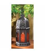 Petit Moroccan Style Amber Candle Lantern Wedding Centerpiece - $11.59