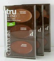 3X CoverGirl Countour Palette Highlighter Bronzer Face Sculpt Creamy Blend 7.8oz - $9.99
