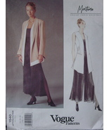 Vogue Sewing Pattern 1540 Vest, Jacket, Skirt & Wide Leg Pants Sizes 14-18 - $7.99