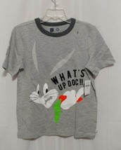 GAP KIDS + WB  Bugs Bunny What's Up Doc Gray Small 6-7 Short Slv Tee Shirt ls - $10.93