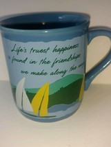 Vintage 1985 Hallmark Cards Mug Mates Friendship Coffee Mug Cup Sailboat... - $22.76