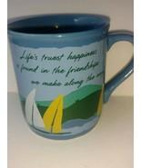 Vintage 1985 Hallmark Cards Mug Mates Friendship Coffee Mug Cup Sailboat... - $22.76