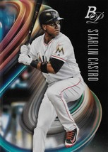 Starlin Castro Bowman Platinum 2018 #78 Miami Marlins Chicago Cubs New York  - $0.15