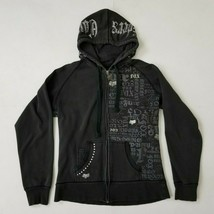 Fox Riders Co Girls XL / Womens Medium Full Zip Hoodie Jacket Studded Ra... - $19.99
