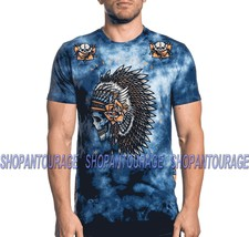 Affliction Night Chief A20212 Short Sleeve Black Label Fashion T-shirt For Men - $54.92