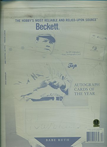 Babe Ruth Beckett Cover Printing Plate 1/1 from Dec '06 Autograph Issue Seal of