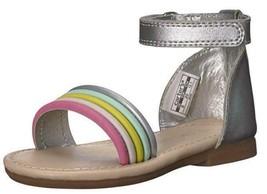Carter's Gene Kids Sandals Silver Gladiator Summer Fashion Dress Shoes T... - $15.50